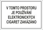 Tabulka - V TOMTO PROSTORU JE POUŽÍVÁNÍ ELEKTRONICKÝCH CIGARET ZAKÁZÁNO