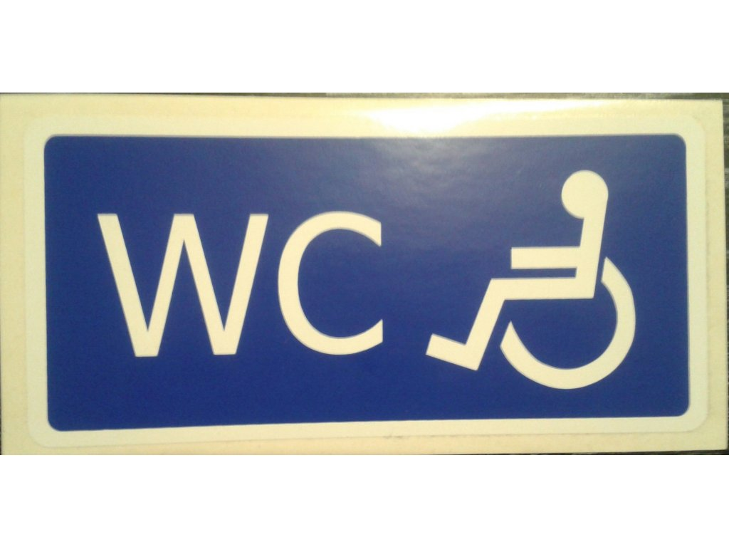 Tabulka - WC invalidé