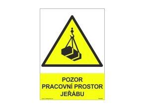 Tabulka - POZOR-PRACOVNÍ PROSTOR JEŘÁBU