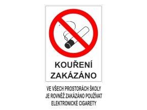 Tabulka - Kouření zakázáno ve všech prostorách školy je rovněž zakázáno používat elektronické cigarety