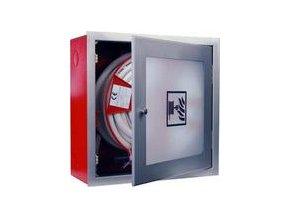Hydrantový systém - D25 - nerez / prosklený - 650x650x285x - 30 m