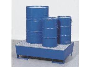 Záchytná vana pro 2 sudy - kovová