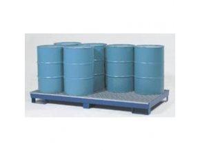 Záchytná vana pro 8 sudů - kovová