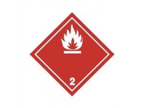 Tabulka - NEBEZPEČÍ POŽÁRU (hořlavé kapaliny) č.2 bílý plamen