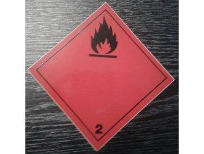 Tabulka - NEBEZPEČÍ POŽÁRU (hořlavé kapaliny) č.2 černý plamen