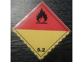 Tabulka - ORGANICKÝ PEROXID, nebezpečí požáru č.5.2. černý plamen
