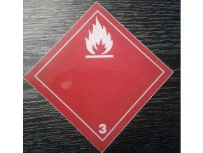 Tabulka - NEBEZPEČÍ POŽÁRU (hořlavé kapaliny ) č.3