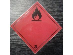Tabulka - NEBEZPEČÍ POŽÁRU (hořlavé kapaliny ) č.3 pevná značka na plechu