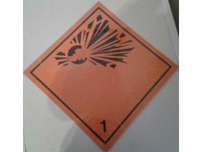 Tabulka -  NÁCHYLNÉ K VÝBUCHU č.1 (30x30cm) značení na plechu