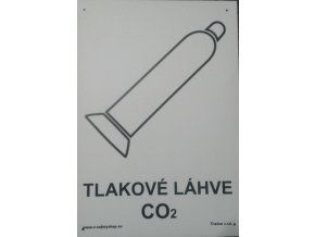 Tabulka - TLAKOVÉ LÁHVE CO2